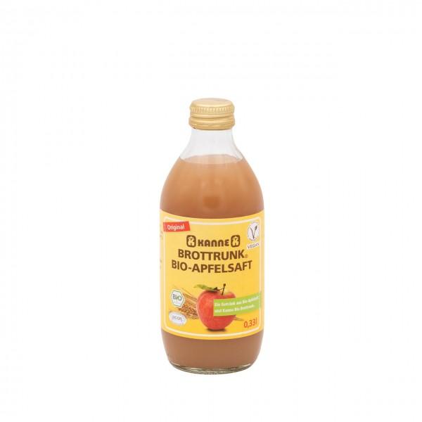 Bio-Apfelsaft mit Original Kanne Brottrunk® 0,33 l
