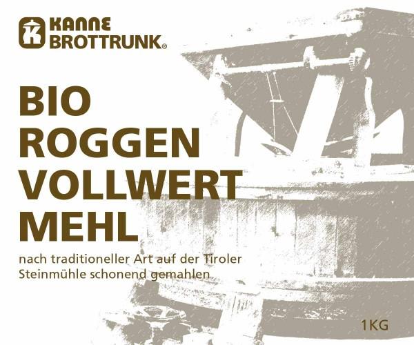 Bio Roggen Vollwertmehl 1 kg