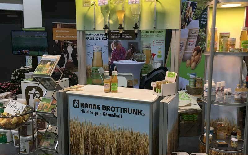 Kanne Brottrunk Messestand auf der Grünen Woche in Berlin