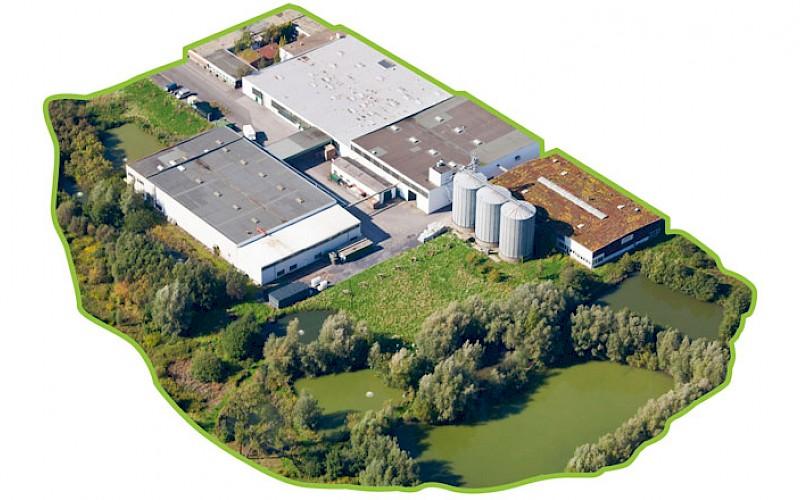 Historical aerial photograph - Kanne bakery in Altlünen
